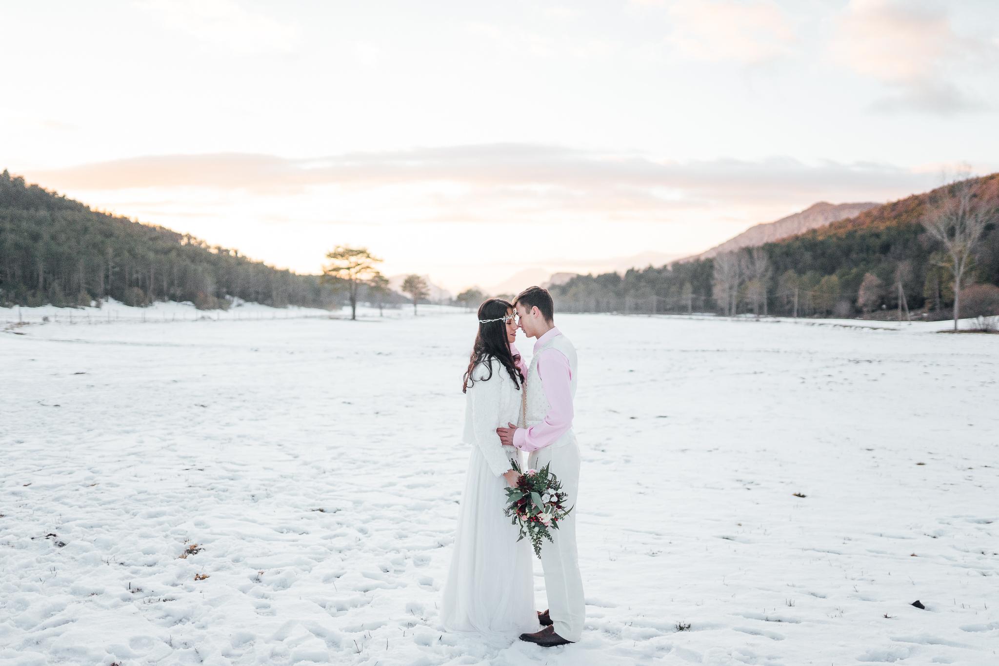 Novios de invierno winter Love tocado invernal